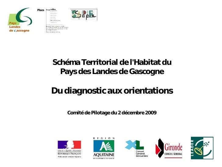 Place             Schéma Territorial de l'Habitat du           Pays des Landes de Gascogne          Du diagnostic aux orie...