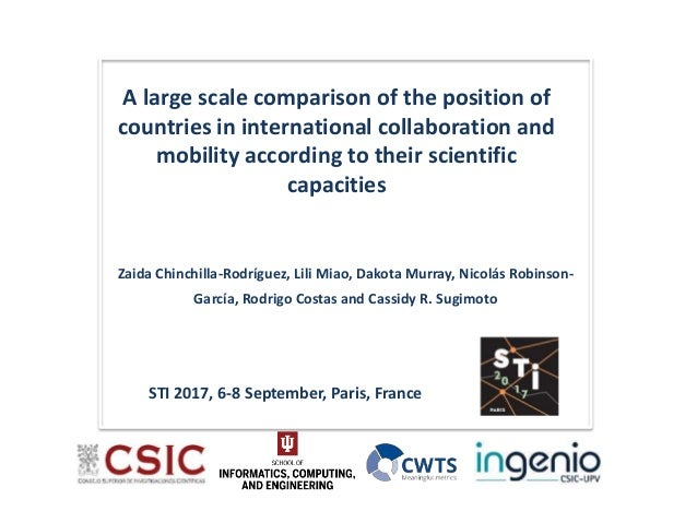 A large scale comparison of the position of countries in international collaboration and mobility according to their scien...