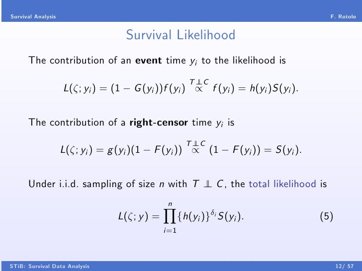 introduction to survival analysis pdf