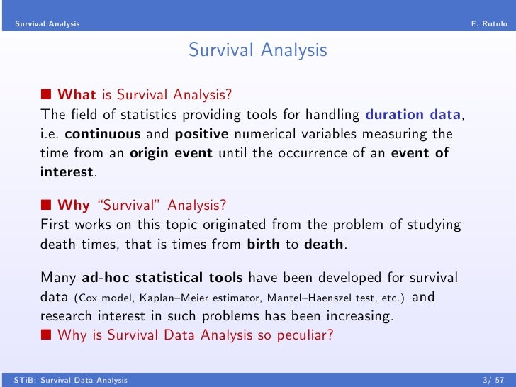 The analysis of survival data: the Kaplan–Meier method ...