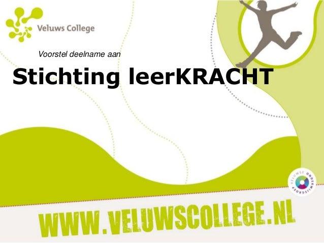 Voorstel deelname aan  Stichting leerKRACHT