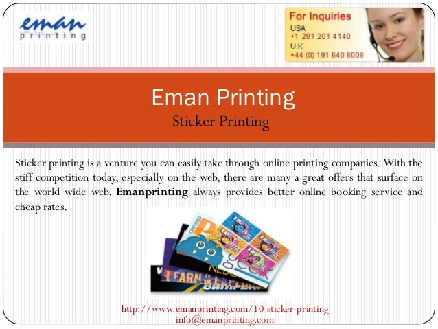 Eman Printing                                   Sticker PrintingSticker printing is a venture you can easily take through ...