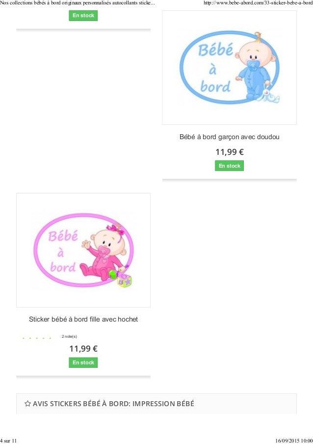 Stickers  une collection d auto-collants personnalisés bébé à bord 842132e1d7f