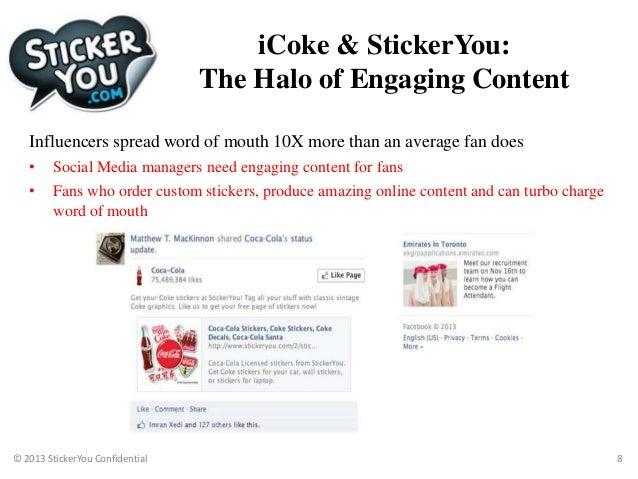 Sticker marketing case study coke and stickeryou
