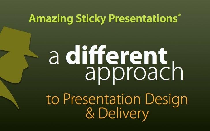 sticky presentations quick start effective presentation design