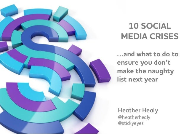 10 SOCIAL MEDIA CRISES …and what to do to ensure you don't make the naughty list next year Heather Healy @heatherhealy @st...