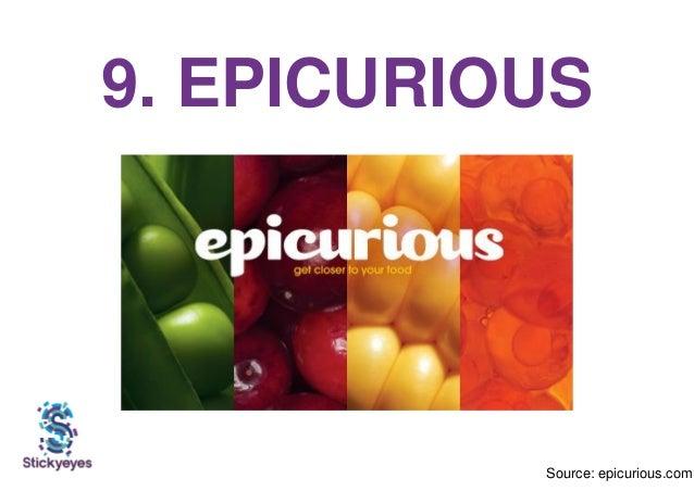 9. EPICURIOUS Source: epicurious.com