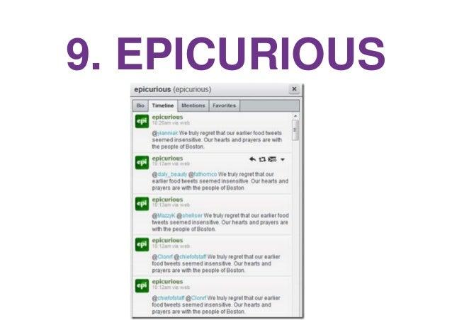 9. EPICURIOUS