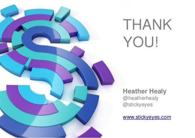 THANK YOU! Heather Healy @heatherhealy @stickyeyes www.stickyeyes.com