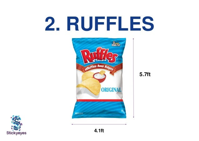 2. RUFFLES 5.7ft 4.1ft