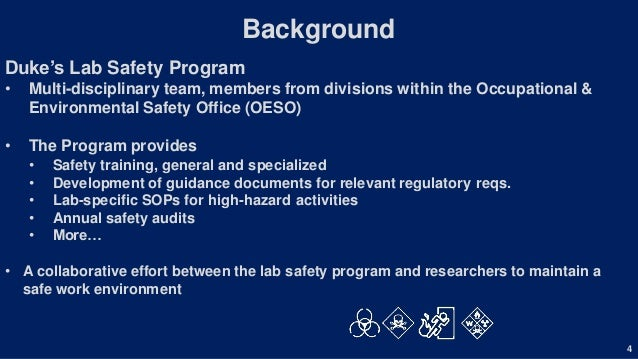 Laboratory Safety in the University Environment: A