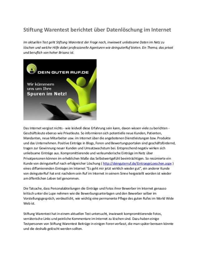 Stiftung warentest- partnersuche im internet