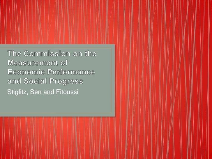 Stiglitz, Sen and Fitoussi