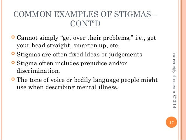 Implications of stigma and mental illness essay