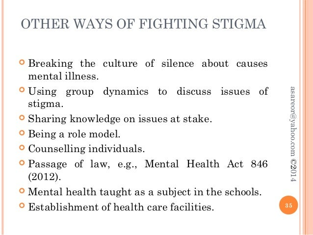 Stigma And Mental Illness
