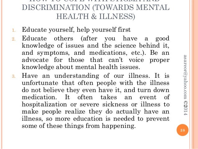 mental illness discrimination Ending discrimination against people with mental  the national academies press  and it is not always clear that findings related to mental illness can.
