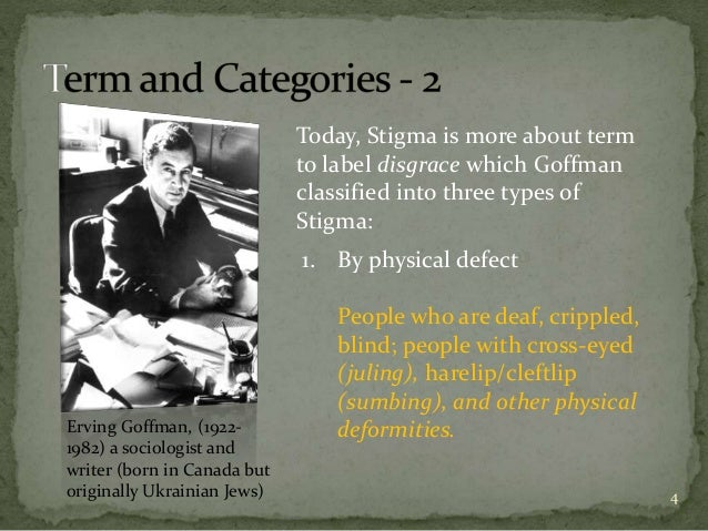 goffman stigmatisering