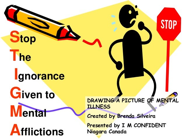 Stop The Ignorance Given to Mental Afflictions DRAWING A PICTURE OF MENTAL ILLNESS Created by Brenda Silveira Presented by...