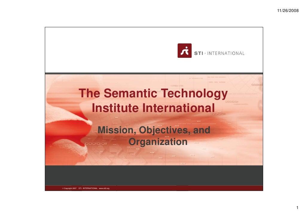 11/26/2008                   The Semantic Technology                     Institute International                          ...