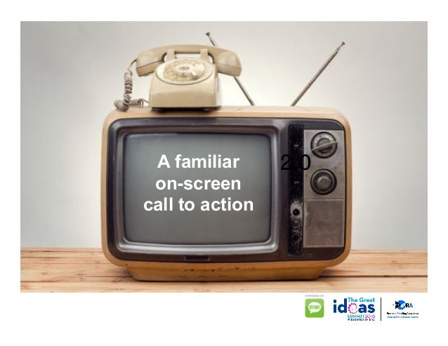 2.0A familiar on-screen call to action