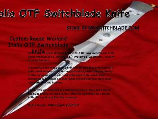 Stiletto switchblade knife for sale at myswitchblade com
