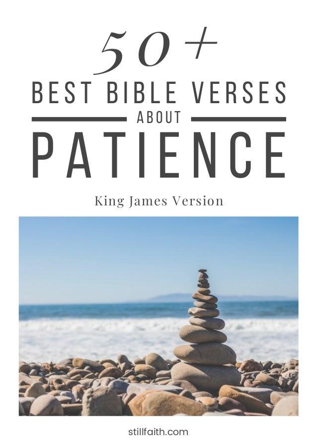 50+ Best Bible Verses about Patience