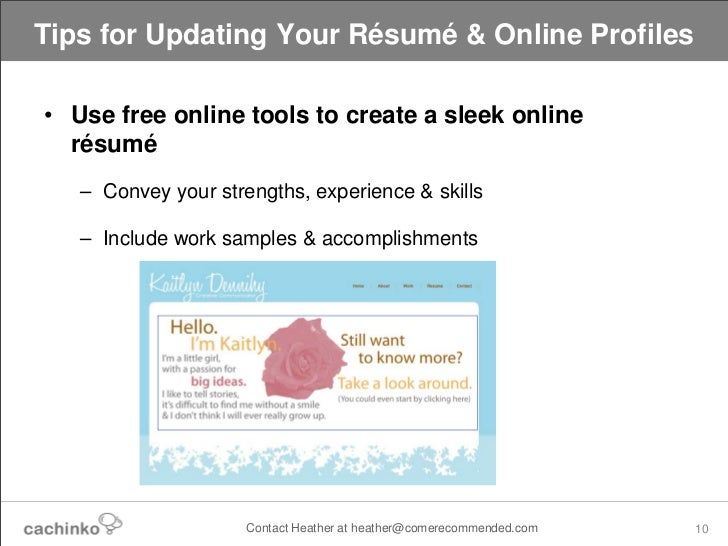 ... 10. Tips For Updating Your Résumé ...  How To Update Your Resume