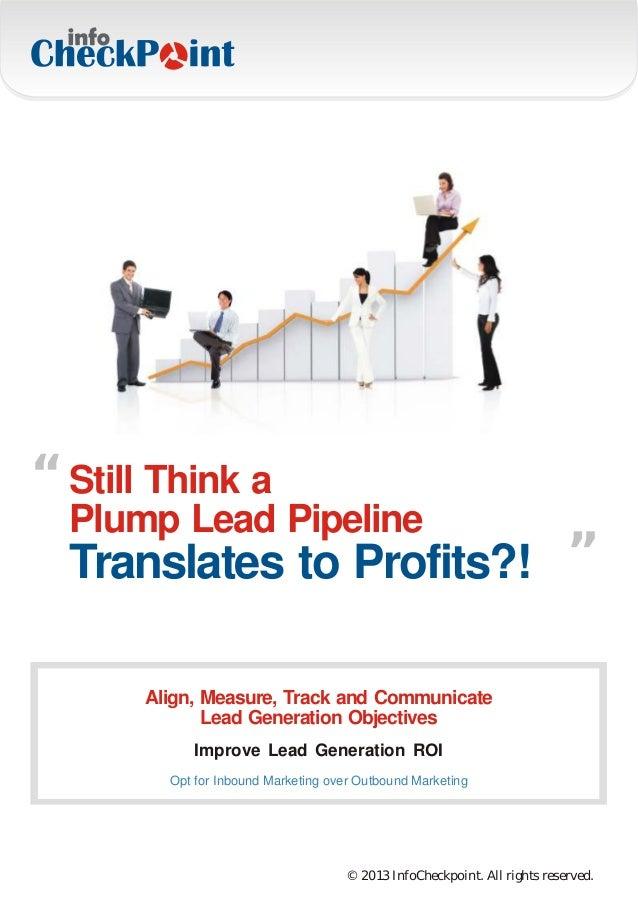 """ Still Think a                                                             ""  Plump Lead Pipeline  Translates to Profits?..."