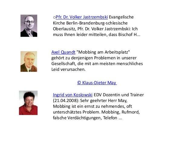 oPfr. Dr. Volker Jastrzembski Evangelische Kirche Berlin-Brandenburg-schlesische Oberlausitz, Pfr. Dr. Volker Jastrzembski...