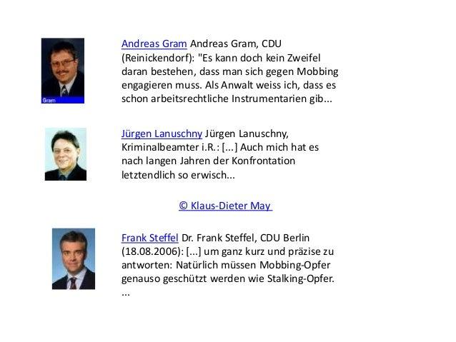 """Andreas Gram Andreas Gram, CDU (Reinickendorf): """"Es kann doch kein Zweifel daran bestehen, dass man sich gegen Mobbing eng..."""