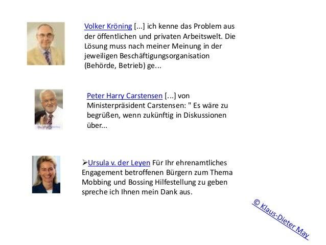 Volker Kröning [...] ich kenne das Problem aus der öffentlichen und privaten Arbeitswelt. Die Lösung muss nach meiner Mein...
