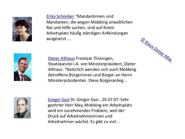 """Erika Schreiber """"Mandantinnen und Mandanten, die wegen Mobbing anwaltlichen Rat und Hilfe suchen, sind auf ihrem Arbeitspl..."""
