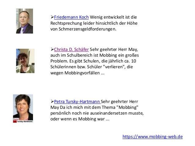 Friedemann Koch Wenig entwickelt ist die Rechtsprechung leider hinsichtlich der Höhe von Schmerzensgeldforderungen. Chri...