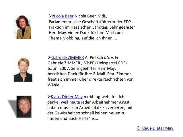 Nicola Beer Nicola Beer, MdL, Parlamentarische Geschäftsführerin der FDP- Fraktion im Hessischen Landtag: Sehr geehrter H...