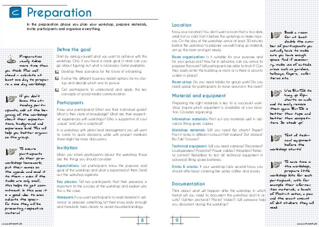 8 9 www.stimmt.chwww.stimmt.ch Preparation Preparation usually takes more time than you think. Plan well ahead – calculate...