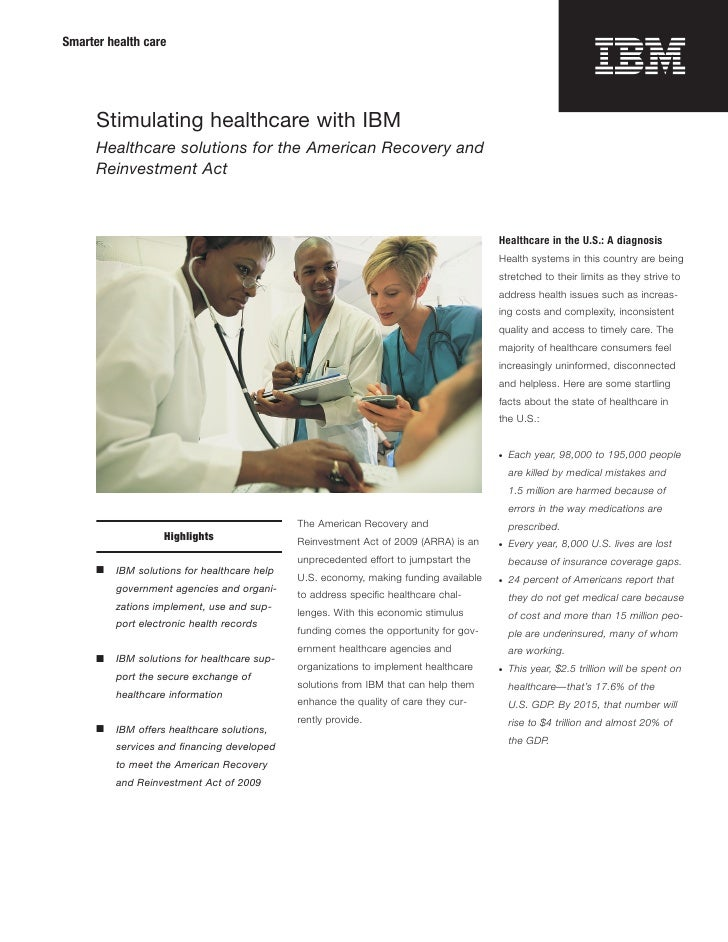 Stimulating Healthcare: Healthcare Solutions from IBM