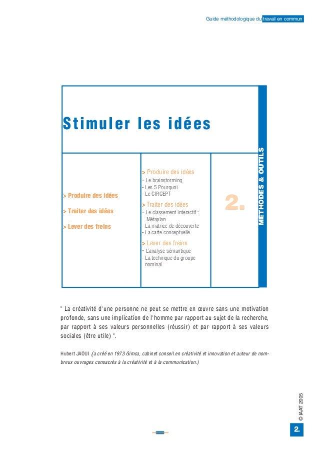 Stimuler les idées > Produire des idées > Traiter des idées > Lever des freins > Produire des idées - Le brainstorming - L...
