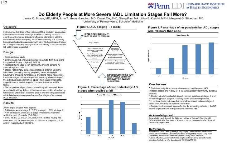 117 <ul><li>Objective </li></ul><ul><li>Instrumental Activities of Daily Living (IADLs) limitation staging is a tool that ...