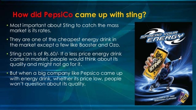 Sting Energy Drink Target Market
