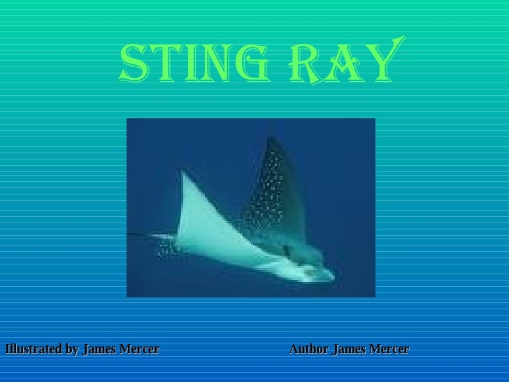 Sting ray Illustrated by James Mercer Author James Mercer