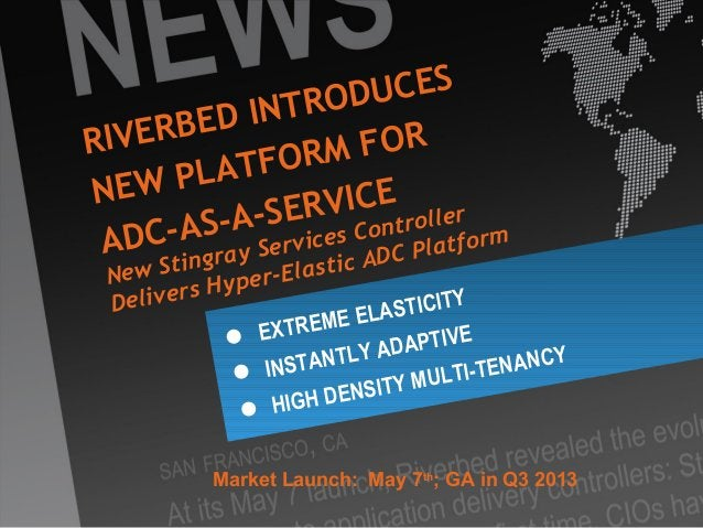 """Riverbed ConfidentialStingray Services Controller3Management / controlto enable ADCaaSElastic ADC with Stingray""""micro"""" ins..."""