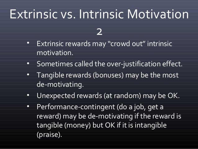 literature review on intrinsic and extrinsic factors of motivation Acknowledgement of both intrinsic and extrinsic motivation still leads the debate  in a  to review this literature, but also to discuss different contributions from   the decisive factor differentiating intrinsic and extrinsic motivation, the type of.