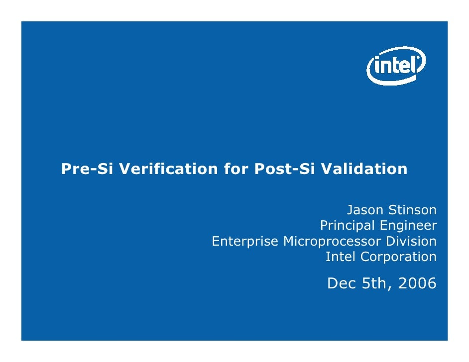Stinson post si and verification