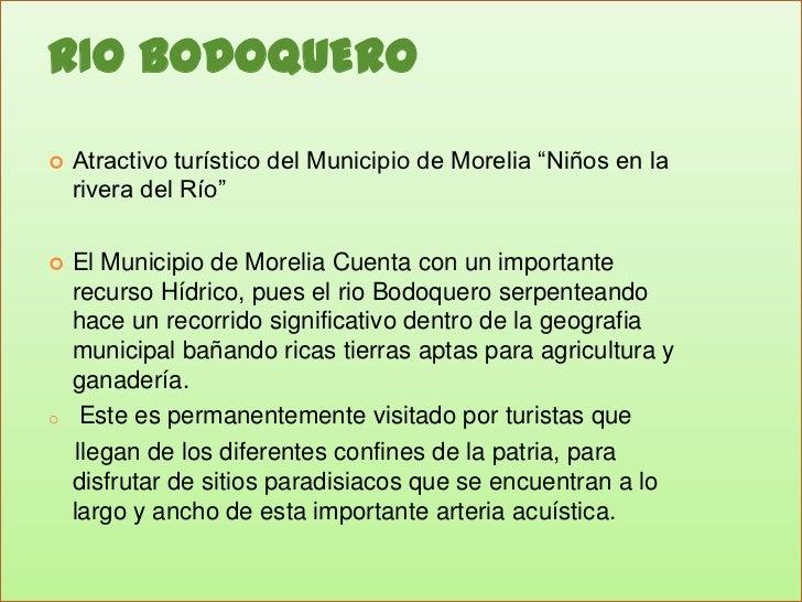 """RIO BODOQUERO<br />Atractivo turístico del Municipio de Morelia """"Niños en la rivera del Río""""<br />El Municipio de Morelia ..."""