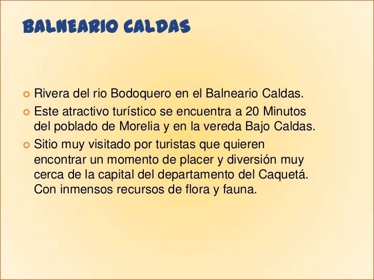 BALNEARIO CALDAS<br />Rivera del rio Bodoquero en el Balneario Caldas.<br />Este atractivo turístico se encuentra a 20 Min...