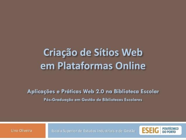 Escola Superior de Estudos Industriais e de GestãoLino Oliveira