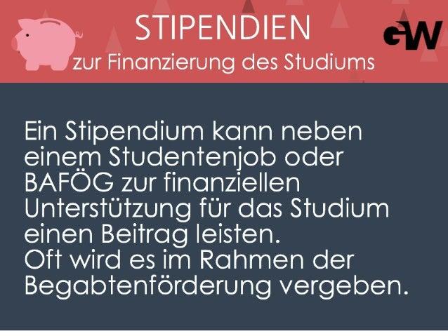 Stipendien zur Finanzierung des Studiums