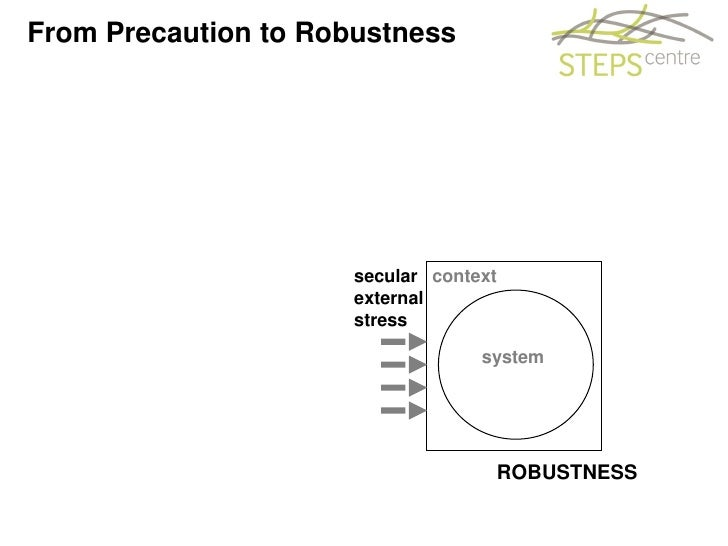 Andy Stirling On Precaution To Robustness