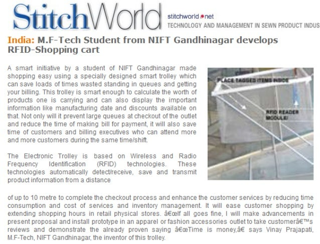 Stitch World - RFID Shopping Cart