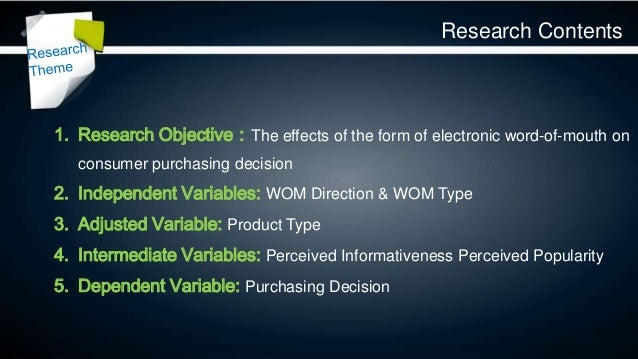 """impact of e word of mouth on purchase decisions """"word of mouth"""" as a key factor that influences their purchase decisions across most product categories  how online advertising and media impact word of mouth."""
